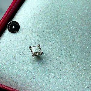 Princess Cut Diamond Stud 1.2ct in White Gold